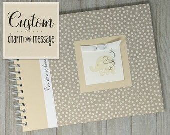Pregnancy Journal Album | Gender Neutral | Pregnancy Gift |  Pregnancy Book | Small Cream Polka Dots