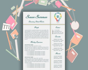 Teacher resume template Teacher resume template for word Creative teacher resume CV teacher Elementary teacher resume template Teacher cv