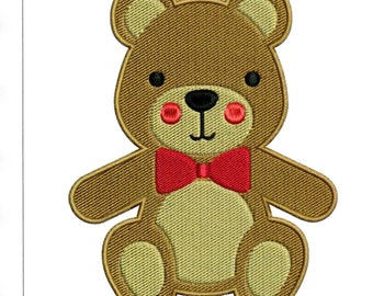 Embroidery Designs Teddy Bear Teddy Bear with Bow Tie
