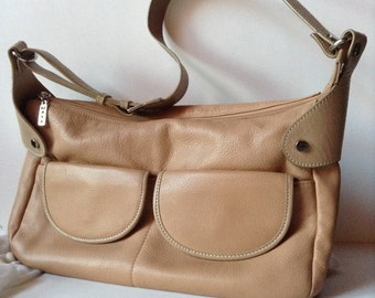 MAXX New York Pebbled Leather East/West Shoulder Bag/Satchel
