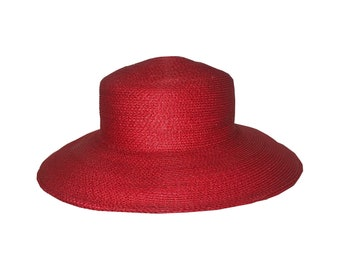 Tracy Tooker Red Straw Hat