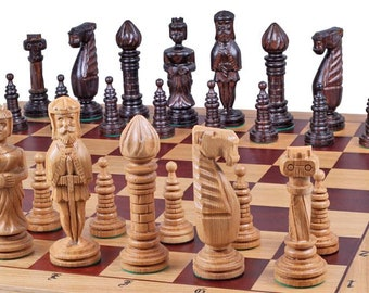 Oak Chess Set