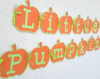 My Litttle Pumpkin Banner, Baby Shower Banner, Fall Birthday Party Banner, Fall Decoration, Little Pumpkin Banner,