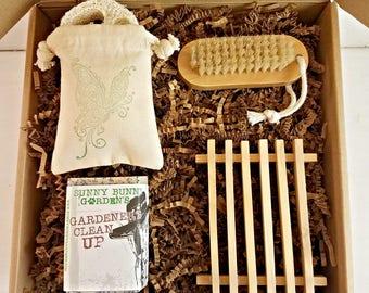 Gardeners Clean Up Soap Gift Box, Soap for Gardeners, Housewarming Gift, Soap Gardeners Would Love, Gifts for Gardeners, Natural Soap Gifts