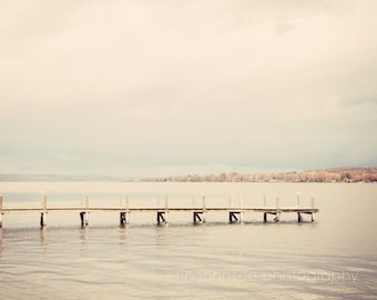 lake chautauqua new york landscape photography, gray home decor, pink wall art, neutral large living room art, nature photo,