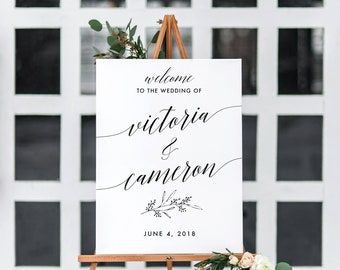 Wedding sign printable, Custom Wedding Poster, Wedding poster, Welcome Sign, Wedding Welcome, Wedding decor, Wedding date sign, Calligraphy