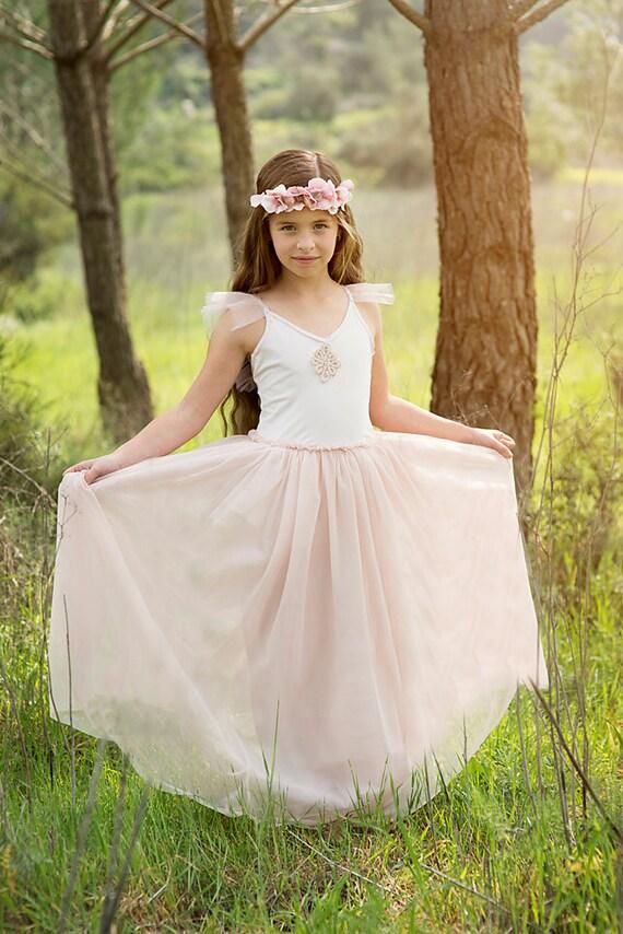 Rosa blumenmadchen kleider
