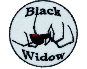 Black Widow Spider Patch Iron on Applique Alternative Clothing Horror - YDS-EMPA-013-PATCH
