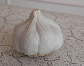 super realistic porcelain garlic bulb faux food photo stylist prop