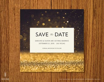 Vegas | Printable Save the Date Template | Instant Download