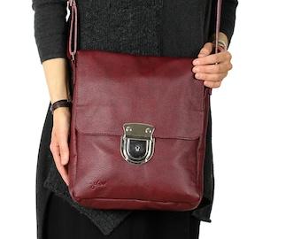 Foldover Crossbody Leather Bag-Maroon Crossbody Bag-Cross Body Leather Bag-Women bags- Leather Bag-Hand Bags-Accessories Handbags-Maroon Bag