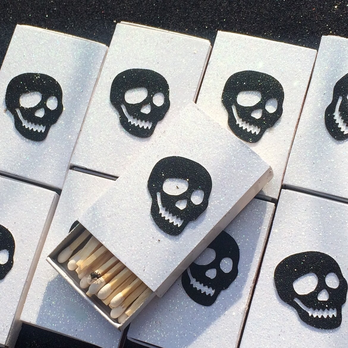 8 Sugar Skull Matchboxes Party Wedding Favors Day of the Dead