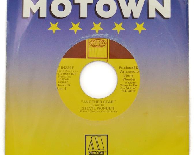 Vintage 70s Stevie Wonder Another Star Funk Soul 45 RPM Single Record Vinyl