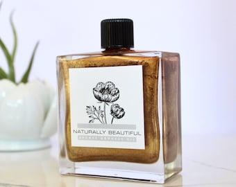 Bronze Goddess Shimmer Body Oil - Bronzing Oil - Organic - Natural Skincare - Skin Care - Shimmer Oil