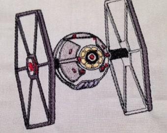 Star Wars Tie Fighter Machine Embroidery Design