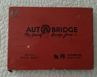 Vintage Autobridge Game 1950's Antique