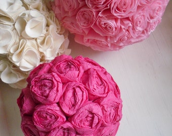PATTERN - DIY 2 PDF ePattern Tutorials - Paper Flower Bloom Balls - 2 Patterns Included - Use the Rosette Pattern for Making Hair Rosettes