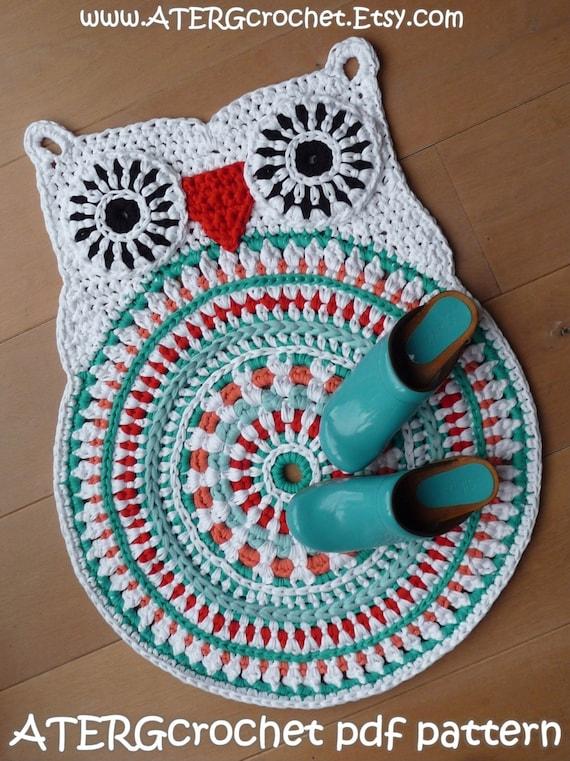Crochet Pattern Owl Rug By Atergcrochet Xl Crochet