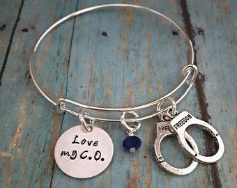 Correctional Officer - Corrections Officer - Love My C.O. - Bracelet - Expandable Bangle - Corrections - Gift for Wife - Gift for Girlfriend