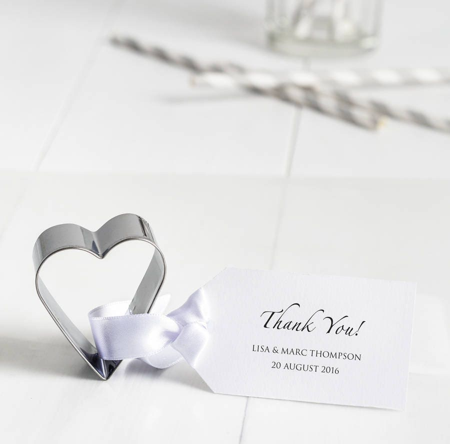 Personalised Heart Cookie Cutter Wedding Favours