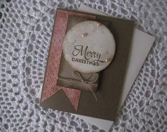 Handmade Greeting Card: Old Time Christmas (Vintage Inspired)