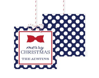 Personalized Christmas Gift Tags - Holiday Gift Tag - Holiday Party Favor Tags - Christmas Party Tags - Printed or Printable - Free Shipping