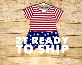 Ready to ship patriotic top // peplum top // 2T peplum top // red white and blue peplum // 4th of july outfit