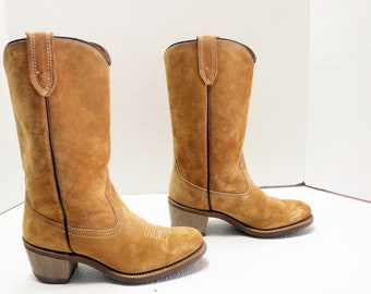 women cowboy suede cowgirl boots size 6.5