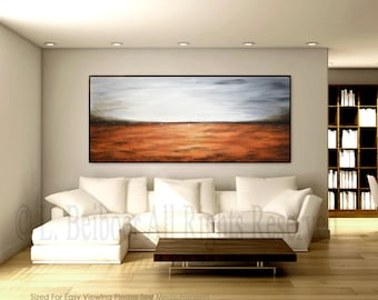 Massive abstract painting large amber gray modern painting XXL artwork Art abstract contemporary landscape painting oil by L. Beiboer