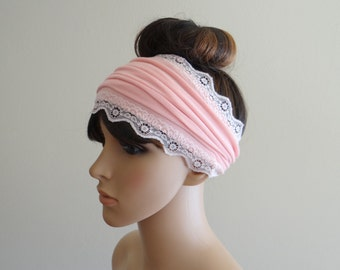 Pink Headband. Pink Head Wrap