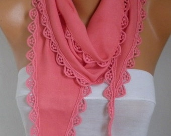 Valentine's Gift,Amaranth Pashmina Scarf, Cowl, Necklace, Bridesmaid Gift,Gift Ideas For Her, Women Fashion Accessories