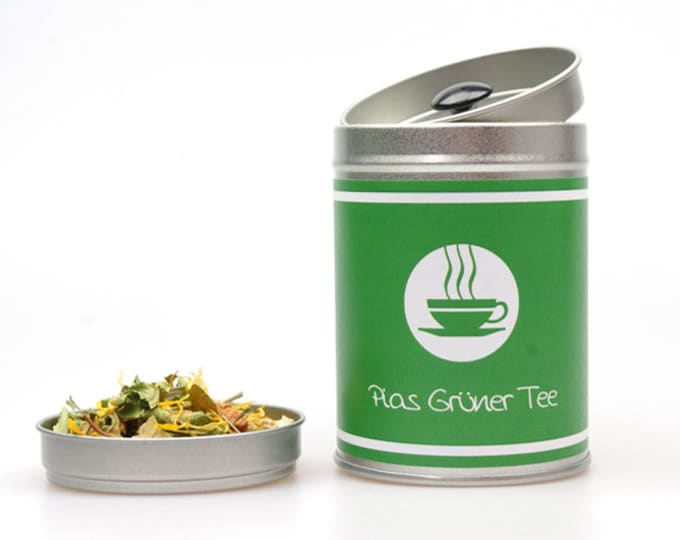 """TEA CADDY """"Your Text"""" personalized"""