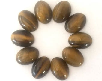 18x13 mm tiger eye oval cabochons 10 pieces lot