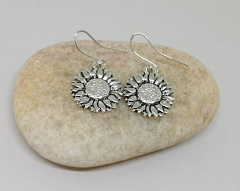 Sunflower Earrings, Flower Earrings, Daisy Earrings