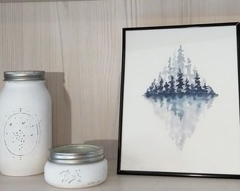 Reflective Diamond Blue Pines
