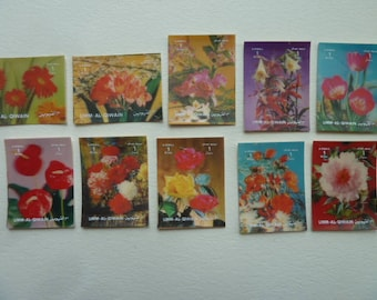 Flowers - Beautiful 3-D Postage Stamps from Argentina with Flowers for Collections or Crafts