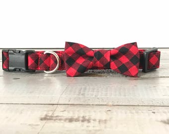 Buffalo Plaid Dog Collars, DOG COLLAR, Dog Collars, The EMeRSoN, Girl Dog Collar, Boy Dog Collar, Cool Dog Collars