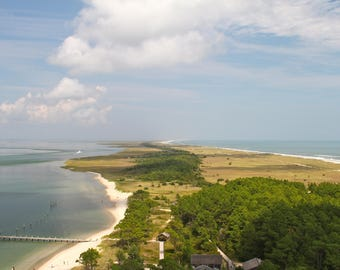 Aerial Photography Art Print, Island Beach Ocean Blue Green Landscape Nature Photography Wall Art Wall Decor
