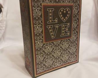 Wedding scrapbook album, wedding mini album, wedding photo album, scrapbook mini album, wedding scrapbook, wedding gift, engagement gift