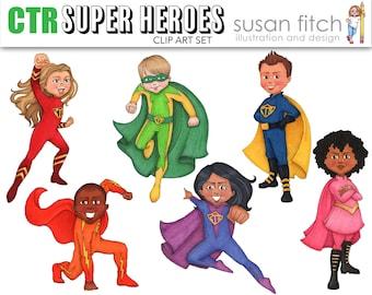 CTR Super Heroes Clip Art Set