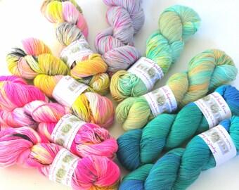Fine Merino Sock Yarn speckle hand dye