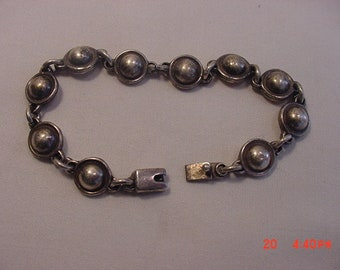 Vintage Mexico Sterling Silver Bracelet  18 - 920  M
