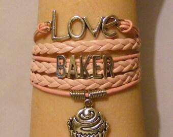 Baker bracelet, baker jewelry, baking bracelet, baking jewelry, foodie bracelet, foodie jewelry fashion bracelet, fashion jewelry