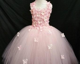 Pink Flower girl Dress / Pink Flower Girl Dresses / Bridesmaid Dress / Princess Dress / Formal Dress / Simple Wedding Dress / Flower Girl