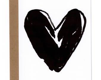 Black Heart Card