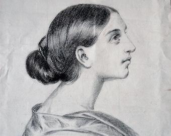 RICHARD TARRAGON 19th century - young woman Portrait