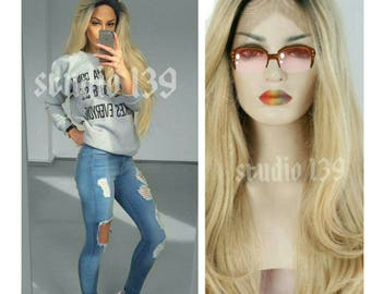 Ombre Blonde Lace Front Wig 24inches