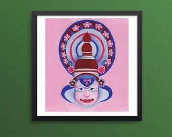 Abstract Indian Ethnic illustration art print