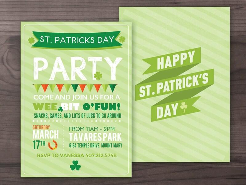 St. Patrick\'s Day Party Invitation St Patty\'s Day