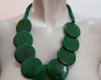 Green Resin Necklace